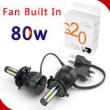 Selbst-Ventilator des LED-Scheinwerfer-G20 80W 8000lm aufgebaut in Canbus H7 H11 H4 Hi/Lo