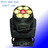 7*15W 쿼드 LED 광속 이동하는 맨 위 꿀벌 눈 빛