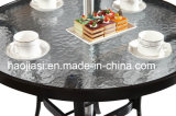 /Rattan ao ar livre/cadeira & tabela do Rattan mobília do jardim/pátio/hotel ajustou-se (&HS 6076DT do HS 1001C-2)