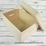 Hölzerner Geschenk-Kasten-hölzerner Ablagekasten für Weihnachten