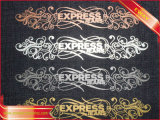 Nice Rhinestone Étiquette de transfert de l'habillement Rhinestone le fer sur l'étiquette