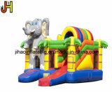 動物の主題膨脹可能な象の子供のための弾力がある城のスライド