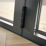 Qualitäts-Doppeltes glasig-glänzendes Glasfaltendes Aluminiumfenster