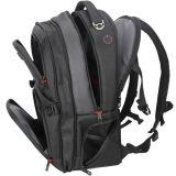Les hommes de l'école en nylon noir ordinateur portable sac à dos d'affaires de voyage
