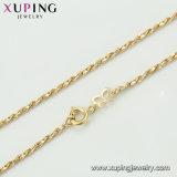 44658 La moda elegante CZ Crystal Color Oro 14K Colgante Collar Bowknot Bisutería