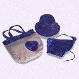 Coton Tie-Dyeing Hat, Triangle mouchoir et sac défini
