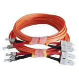 Cordons de connexion de fibre optique des câbles Sc-Rue pour la transmission