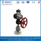 Система контроля крутящего момента воздуха пневматическим приводом двухстворчатый клапан