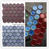 Heiße Bienenwabe des Verkaufs-45*45mm sechseckige Blue&Red keramische Mosaik-Fliese für Dekoration