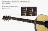 A partir de la fábrica de Instrumentos Musicales Aiersi sólido de la parte superior de Guitarra Acústica (SG02SR)
