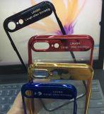Caisses acryliques transparentes ultra minces de téléphone de couverture arrière pour l'iPhone X