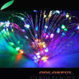 câblage cuivre à piles de 3PCS aa/lumière argentée de chaîne de caractères du fil DEL