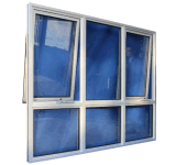 Ventana de cristal comercial de aluminio con la pantalla de la fibra