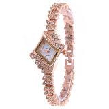 Kleine Form-Frauen-Quarz-Uhr mit Leopard-Diamant-Vorwahlknopf-Entwurf