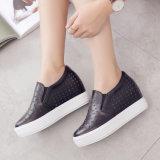 Zapatos de alineada calientes de la respiración de los zapatos de cuero de las mujeres de la venta (FTS1019-20)