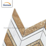 Nuevo de alta calidad travertino Beige Backsplash mosaico de mármol blanco