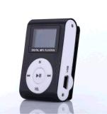 金属のFMのラジオが付いている小型携帯用金属クリップMP3プレーヤーLCDスクリーン