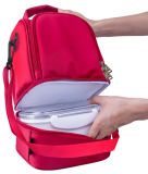 2-roja de la capa de aislamiento térmico de poliéster refrigerador almuerzo Tote