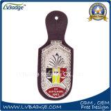 Держатель ключа неподдельной кожи для таможни имеет логос