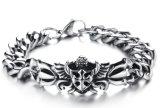 De concurrerende Armbanden van het Patroon van de Bloem van het Roestvrij staal van de Punkmuziek van de Armband van Mens van de Link van de Keten van de Prijs 316L voor de juwelen van Mensen