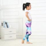 Настройка печати молоко шелковые брюки детские Leggings Йоги
