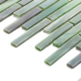 China-grünes Glas-befleckte Mosaik-Großhandelsfliese für Badezimmer Backsplash