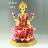 Statue indù del dio della decorazione della resina domestica di colore rosso