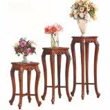 食堂の家具セットのための花立場そして木のキャビネット