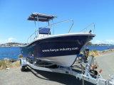 Liya 19 pieds en fibre de verre pour la vente de bateaux de pêche commerciale