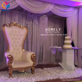 Oro bianco di lusso che Wedding alto re posteriore Throne Chair Hly-Sf16