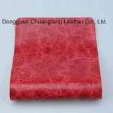 Waterproof o couro artificial durável impresso para o Upholstery do sofá (F8002)