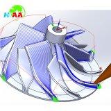 OEM de Gelijktijdige 5-as die van het Aluminium/van het Staal Delen van Drijvende kracht machinaal bewerken
