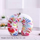 Venta caliente colorido Imprimir Cuidados en el cuello en forma de U proveedor chino de almohada