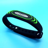 13.56MHz Passive étanche Mifare DESFire EV1 2K silicone bracelet RFID