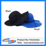 Breite Rand-Wolle-Filz-Floppydame Hat