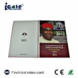 7 der Zoll Soem-Karten-videobroschüre videogruß-Karte der /LCD-video Broschüre-Card/LCD/Geschenk-Karte