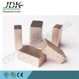 Segmentos baixos de cobre do diamante do sanduíche para a borda & o corte por blocos de mármore