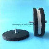 Редкоземельные Car оформление Pot магнит с резиновым покрытием базы и наружной резьбой