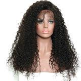 Америки африканских Kinky вьющихся волос человека кружева Wig передней панели