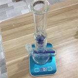 Bocal de torta de vidro em linha reta fumar borbulhador do tubo de água
