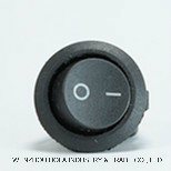 円形ボタン250Vのロッカースイッチ