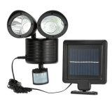 Capteur solaire tête de lampe double