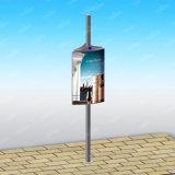 Poste de iluminação de publicidade personalizada do design Caixa de Luz