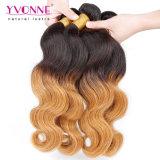 Armadura peruana del pelo ondulado de la carrocería del color de Ombre de la manera de Yvonne