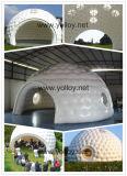 Blow up rápido domo inflable 0.55mm inflables de PVC de aire de gran estructura de la carpa para eventos