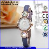 Kundenspezifische Firmenzeichen-Quarz-Uhr-Dame-Form-Armbanduhren (WY-077C)