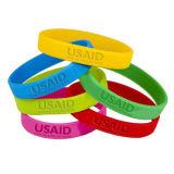 Wristband su ordinazione del silicone di Debossed di marchio poco costoso di promozione