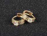 Новым ювелирные изделия заявления Шампань Huggie серег обруча Cc младенца золота покрынные серебром классицистические круглые австрийские кристаллический