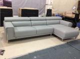 Sofá secional de couro moderno com sofá da mobília
