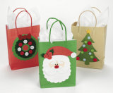 Sacs à provisions fabriqués à la main de papier d'impression de couleur, sacs colorés d'impression